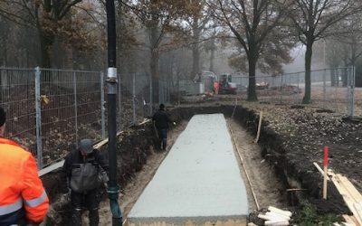 De aanleg van het fundament